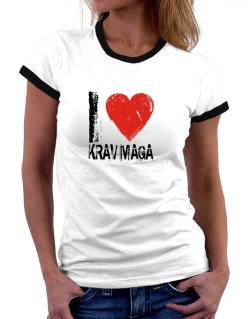 I Love Krav Maga Women Ringer T-Shirt