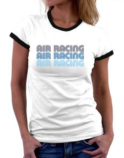 Air Racing Retro Color Women Ringer T-Shirt