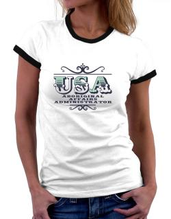 Usa Aboriginal Affairs Administrator Women Ringer T-Shirt