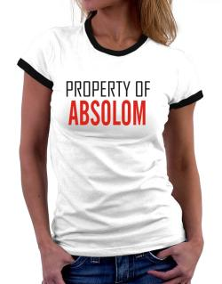 Property Of Absolom Women Ringer T-Shirt