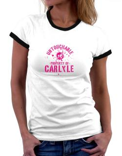Untouchable : Property Of Carlyle Women Ringer T-Shirt