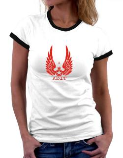 Adit - Wings Women Ringer T-Shirt