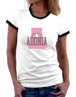 Property Of Adonia Women Ringer T-Shirt