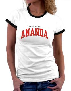 Property Of Ananda Women Ringer T-Shirt