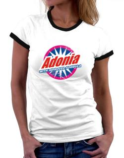 Adonia - With Improved Formula Women Ringer T-Shirt