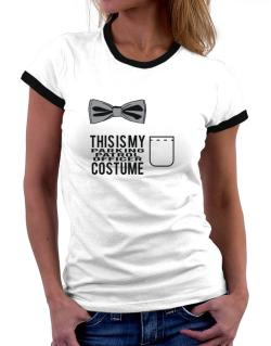 this is my Parking Patrol Officer costume Women Ringer T-Shirt
