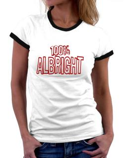 100% Albright Women Ringer T-Shirt