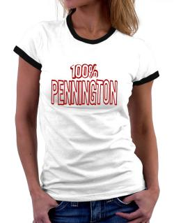 100% Pennington Women Ringer T-Shirt