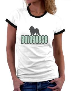Breed Color Bolognese Women Ringer T-Shirt