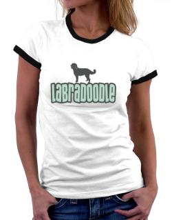 Breed Color Labradoodle Women Ringer T-Shirt