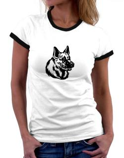 """ Belgian Malinois FACE SPECIAL GRAPHIC "" Women Ringer T-Shirt"