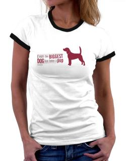 Even The Biggest Dog Has Been A Pup - Beagle Women Ringer T-Shirt