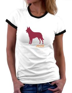 Belgian Malinois Stencil / Chees Women Ringer T-Shirt