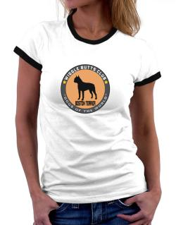 Boston Terrier - Wiggle Butts Club Women Ringer T-Shirt