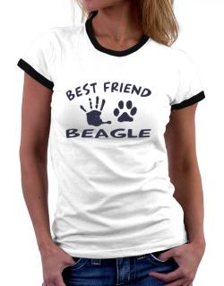 My Best Friend Is My Beagle Women Ringer T-Shirt