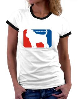 Affenpinscher Sports Logo  Women Ringer T-Shirt