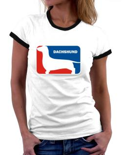 Dachshund Sports Logo Women Ringer T-Shirt