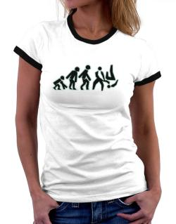 Evolution - Aikido Women Ringer T-Shirt
