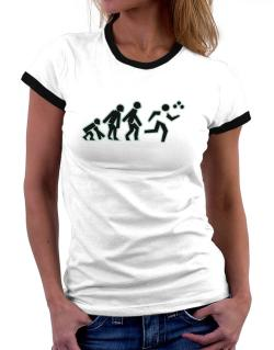 Evolution - Triathlon Women Ringer T-Shirt