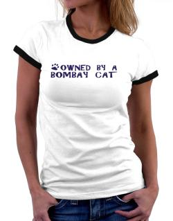 Owned By A Bombay Women Ringer T-Shirt