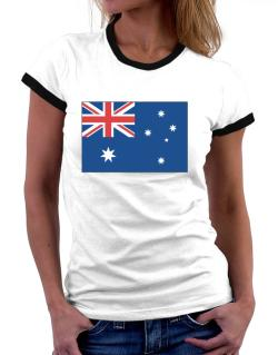 Australia Flag Women Ringer T-Shirt