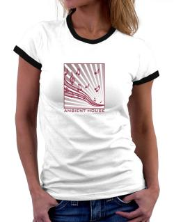 Ambient House - Musical Notes Women Ringer T-Shirt