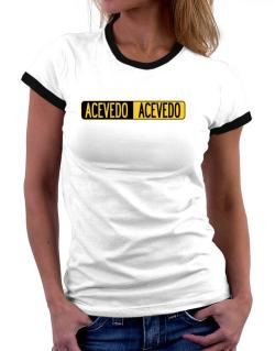 Negative Acevedo Women Ringer T-Shirt