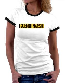 Negative Marsh Women Ringer T-Shirt