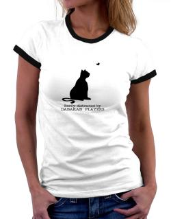 Easily Distracted By Dabakan  players Women Ringer T-Shirt
