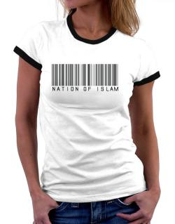 Nation Of Islam - Barcode Women Ringer T-Shirt
