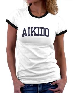 Aikido Athletic Dept Women Ringer T-Shirt