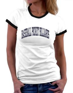 Baseball Pocket Billiards Athletic Dept Women Ringer T-Shirt