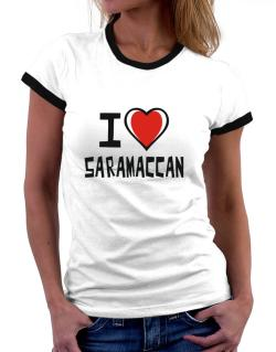 I Love Saramaccan Women Ringer T-Shirt
