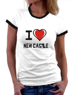 I Love New Castle Women Ringer T-Shirt