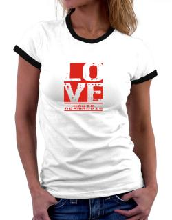 Love Haute-Normandie Women Ringer T-Shirt