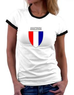 Anaconda Escudo Usa Women Ringer T-Shirt
