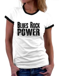 Blues Rock power Women Ringer T-Shirt