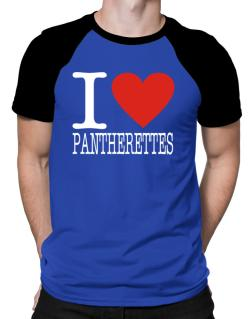 I Love Pantherettes Raglan T-Shirt