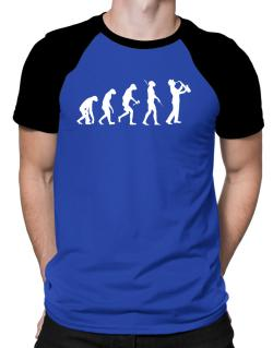 Polo Raglan de Saxophone Player Evolution
