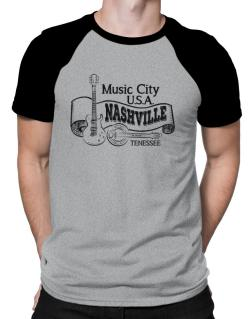 Music city Usa Nashville Tennessee Raglan T-Shirt