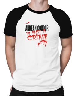 Being A ... Andean Condor Is Not A Crime Raglan T-Shirt