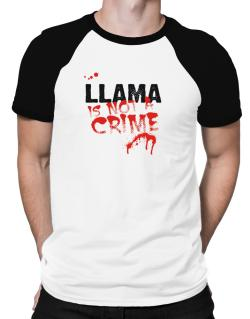Being A ... Llama Is Not A Crime Raglan T-Shirt