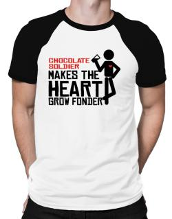 Chocolate Soldier Makes The Heart Grow Fonder Raglan T-Shirt