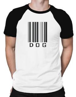 Dog Barcode / Bar Code Raglan T-Shirt