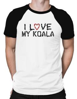 I Love My Koala Raglan T-Shirt