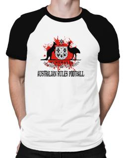 Australia Australian Rules Football / Blood Raglan T-Shirt