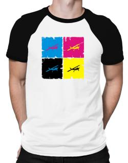 """ Aerobatics - Pop art "" Raglan T-Shirt"