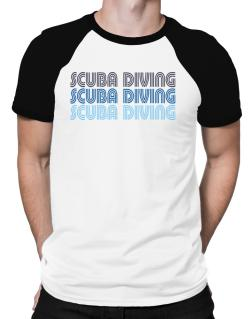 Scuba Diving Retro Color Raglan T-Shirt