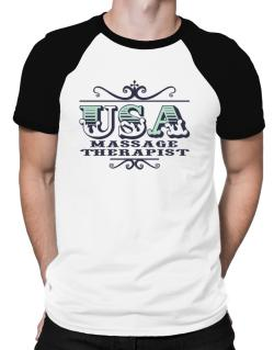 Polo Raglan de Usa Massage Therapist