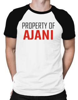 Property Of Ajani Raglan T-Shirt